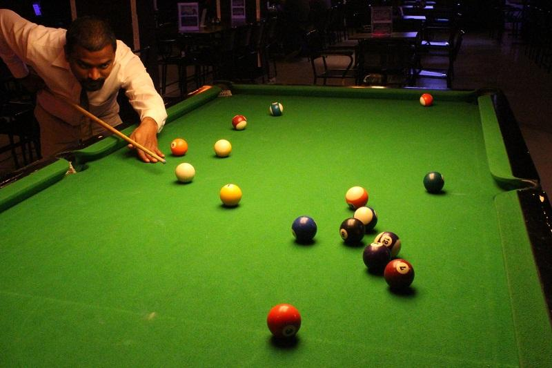 Pool table at Wyt - The Restro Pub
